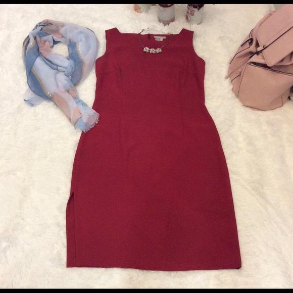 Poshmark Zara DressesBasic Dress Vestido Rojo Red 4Lqc35ARj